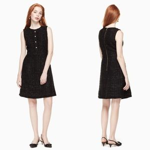 Kate Spade | Sparkle Tweed Pearl Button Dress